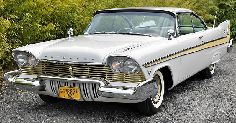 1957 Plymouth Fury in Sand Dune White