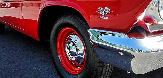 1962 Chevy 409 front fender badge