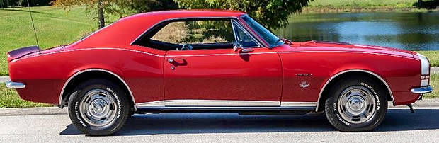 1967 SS / RS Camaro Side View