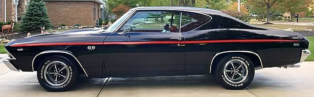 A 69 Chevelle SS 396 side view