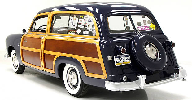 1951 Ford Station Wagon Rear View