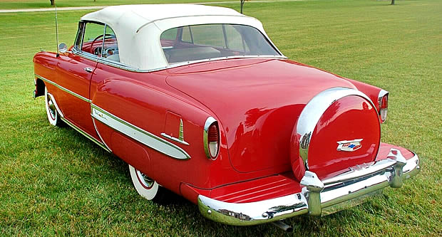 1954 Chevy Bel Air Convertible Rear with continental kit