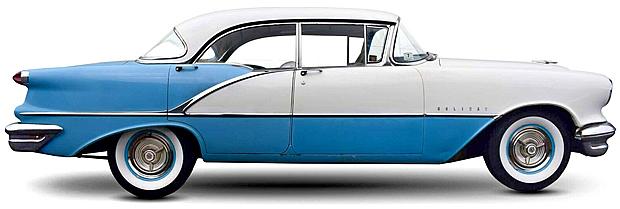 1956 Oldsmobile Super 88 2-dr Holiday - side view