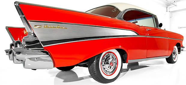 57 Chevy Sport Coupe rear view
