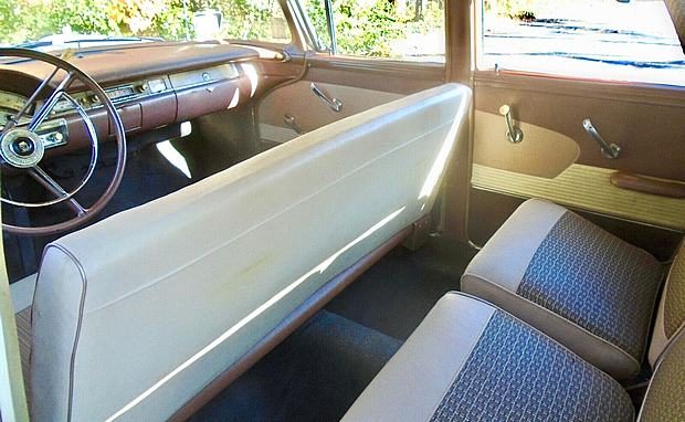 58 Ford Country Squire interior