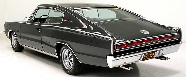 1967 Dodge Charger rear view