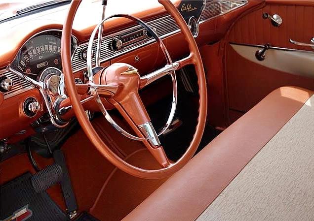 56 Nomad Bel Air interior