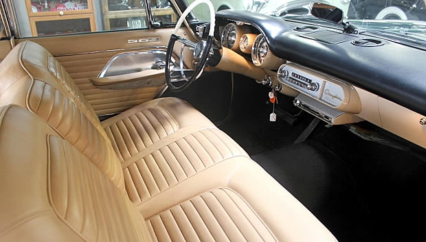 Leather interior of the 57 300C