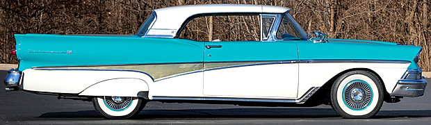 1958 Ford Fairlane 500 Skyliner Side View