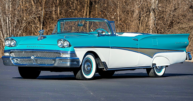 1958 Ford Skyliner Retractable with roof down