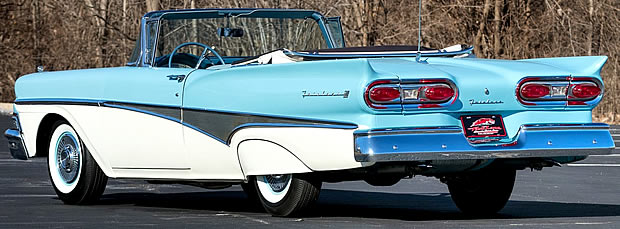 1958 Ford Sunliner Rear View