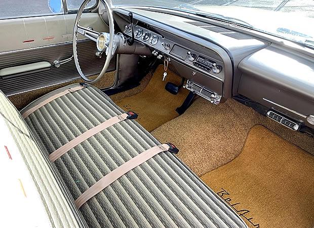 1962 Chevrolet Bel Air Station Wagon interior