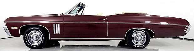 1968 Chevrolet Impala SS-427 - Convertible with top down side view