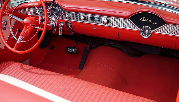 1955 Chevrolet Bel Air Convertible interior