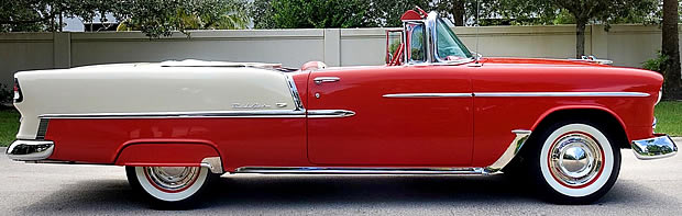 1955 Chevy convertible side view