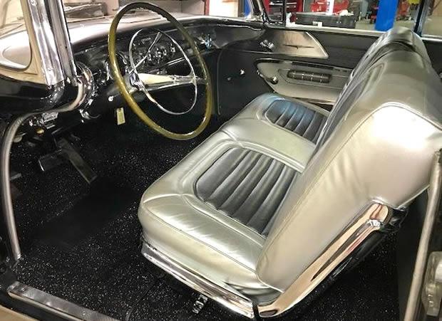 1958 Pontiac Bonneville Convertible interior.