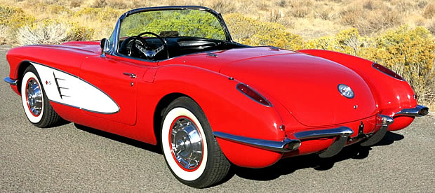 Rear view of the 1959 Chevrolet Corvette