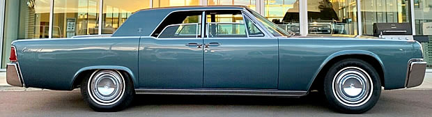 Side view of a 62 Lincoln Continental