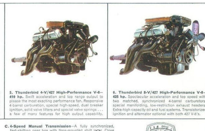 427 Engine options