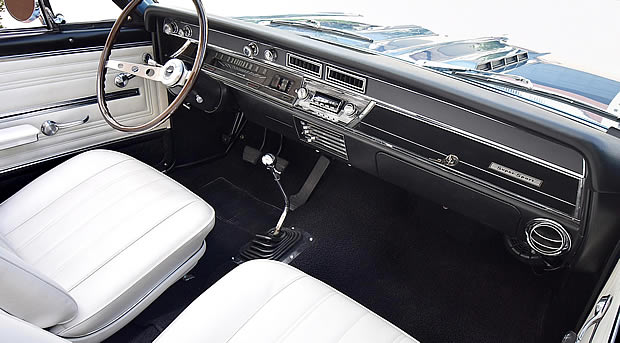 interior shot of the 66 Chevelle SS396