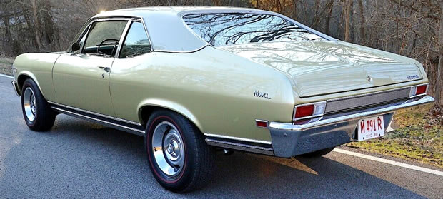 Rear view of the 68 Nova SS