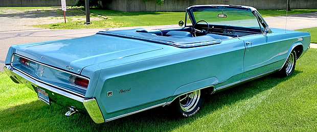 rear view of a convertible Chrysler Newport from 1968