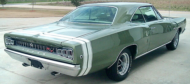 Rear view of the 1968 model Dodge Coronet R/T