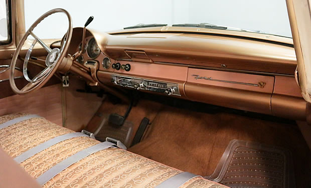 Interior of a 1956 Fairlane by Ford