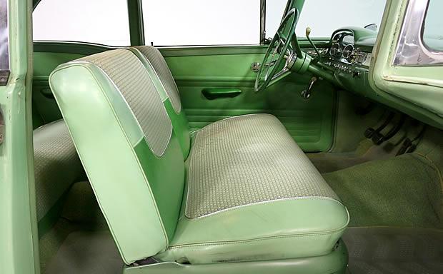 Interior shot of a 1959 Edsel Ranger - tu-tone green