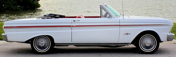 Side view of a 65 Ford Falcon Convertible