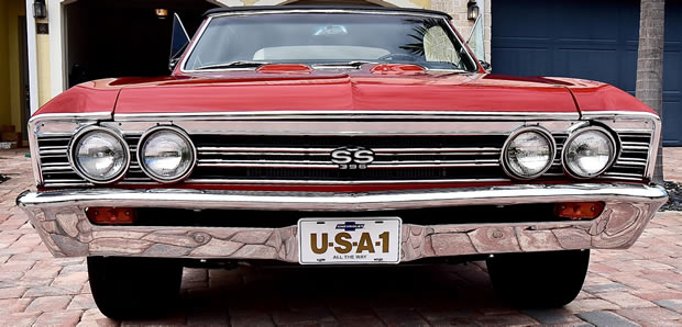67 Chevelle SS396 front view