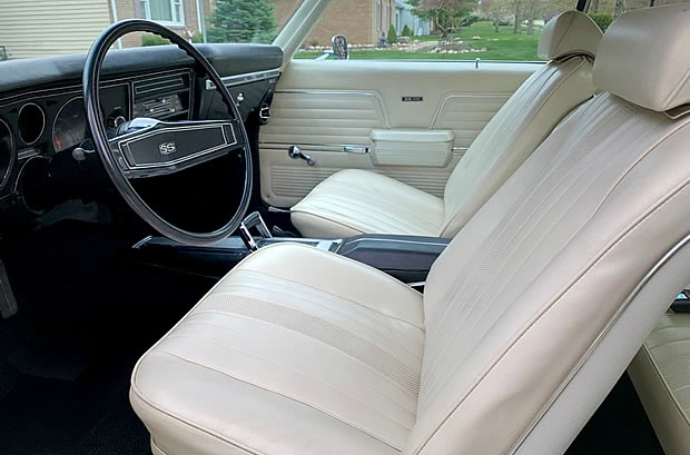 Interior shot if a 69 Chevy Chevelle SS