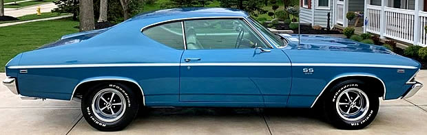 Side view of a 1969 SS 396 Sport Coupe