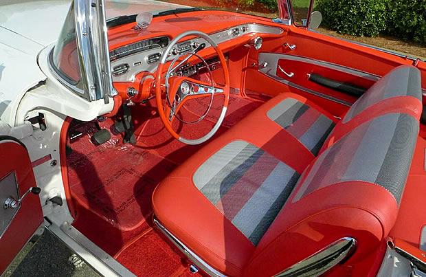Interior shot of a 58 Impala convertible