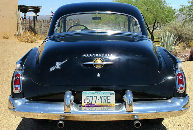 Rear view of the 1950 Oldsmobile 88
