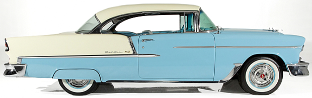 side view of a 1955 Bel Air Sport Coupe