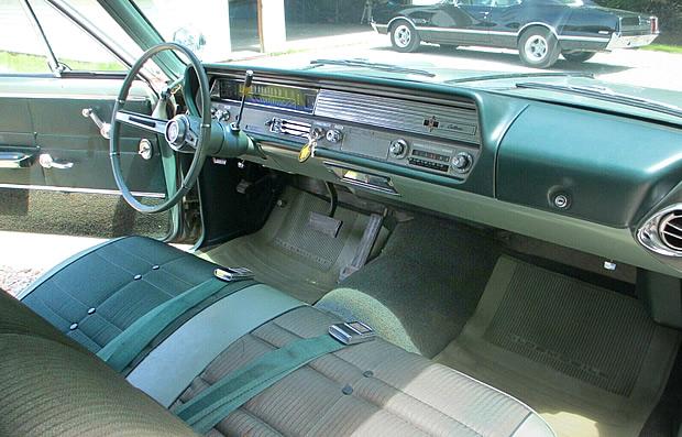 interior shot of the 1965 Oldsmobile Cutlass.