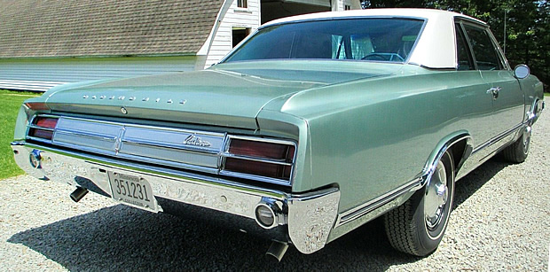 Rear view of the 65 Cutlass