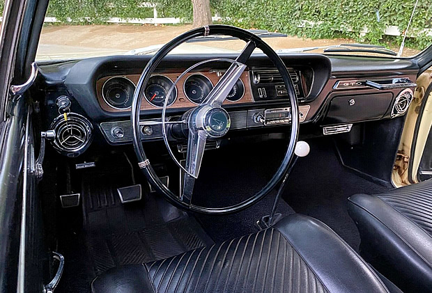 All vinyl, bucket seat interior of the 65 GTO