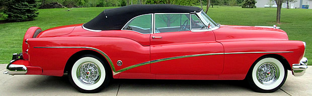 Side view of a 53 Buick Skylark