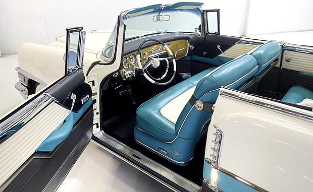 Interior shot of a 1955 Packard Caribbean Convertible