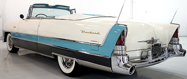 rear view of a very nice 55 Packard Caribbean