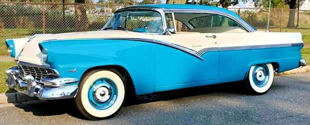 side view of a 56 Ford Fairlane Victoria 2-door hardtop