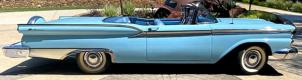 side view of a 59 Skyliner