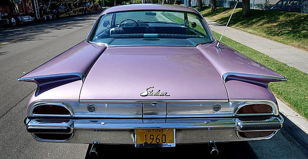 Rear view of a 1960 Ford Galaxie Starliner