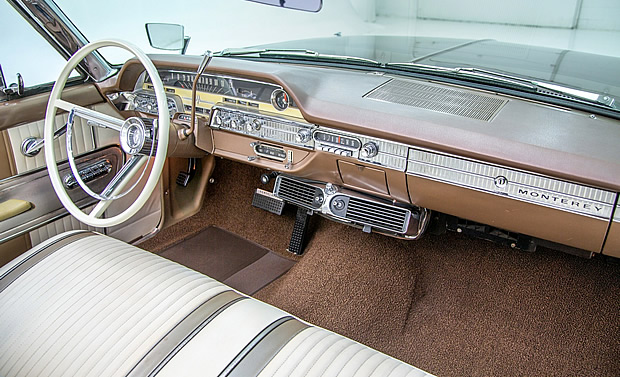 dash / instrument panel of a 62 Mercury Monterey
