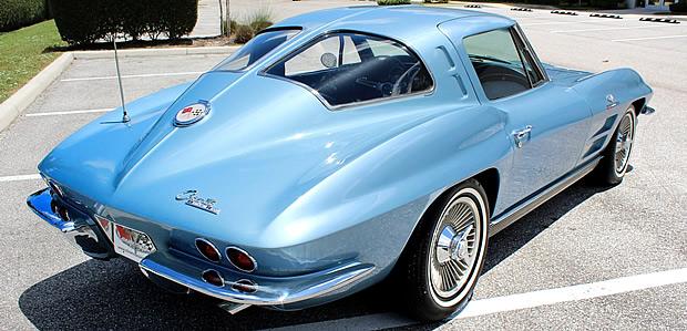 1963 Chevy Corvette Rear view showing the split window