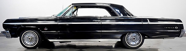 Side view of a 64 SS Impala with a big block 409