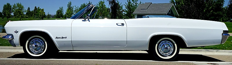 side view of a 65 Impala SS Convertible