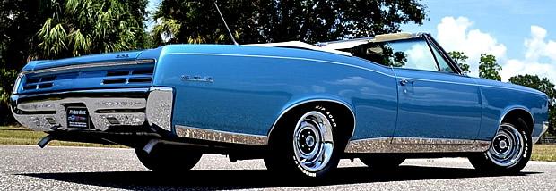 Rear view of a '67 Pontiac GTO convertible